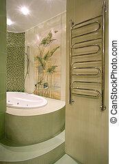 salle bains, intérieur, moderne