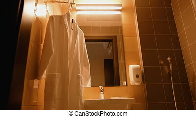 salle bains, moderne, hôpital, intérieur
