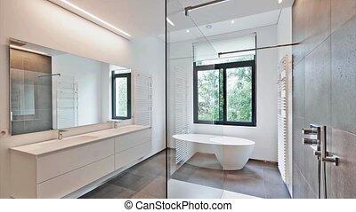 salle bains, moderne, luxe