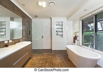 salle bains, moderne