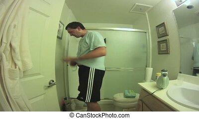salle bains, nettoyage