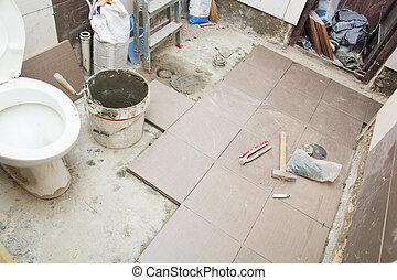 salle bains, rénovation