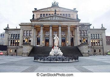 salle concert, konzerthaus, les, gendarmenmarkt, berlin, allemagne