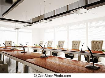 salle conférence, render, 3d
