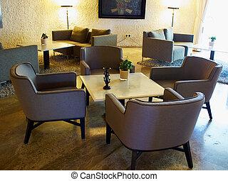 salle d'attente, moderne, réception