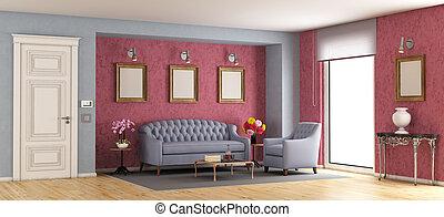 salle de séjour, classique