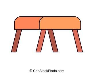 salle de séjour, confortable, fond, chaise, blanc