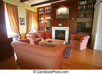 salle de séjour, confortable