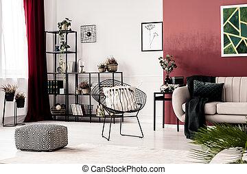 salle de séjour, fauteuil