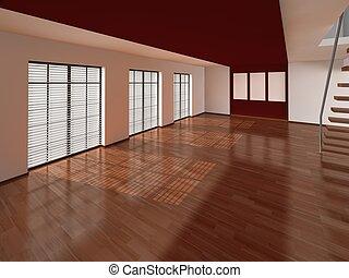 salle de séjour, intérieur, architecture