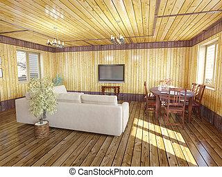salle de séjour, intérieur