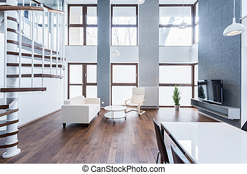 salle de séjour, original, spacieux