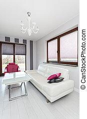 salle de séjour, vibrant, -, spacieux, petite maison