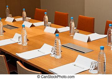 salle, endroits, travail, prêt, hommes affaires, réunion