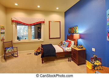 salle enfants, dans, moderne, maison