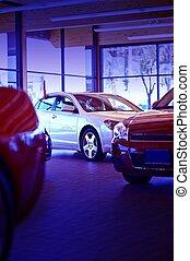 salle exposition voiture, revendeur