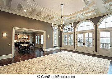 salle famille, à, balcon, vue