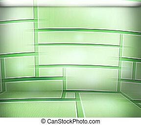 salle, fond, virtuel