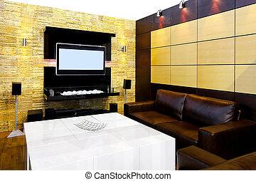 salle, habiter moderne