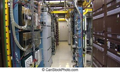 salle, il, serveur, technicien ordinateur, travaux
