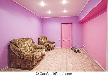 salle, intérieur