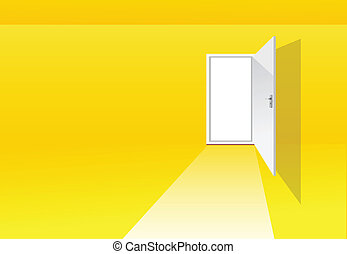 salle, jaune