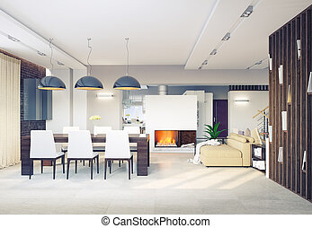 salle manger, intérieur
