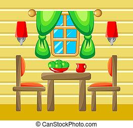 salle manger, interior.