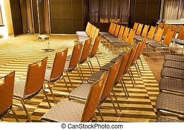salle, moderne, séminaire
