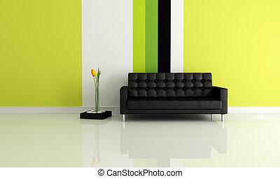 salle moderne, vivant