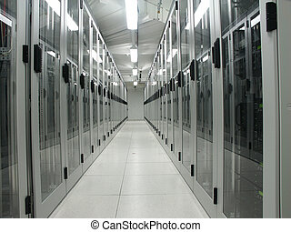 salle ordinateurs, serveur, il