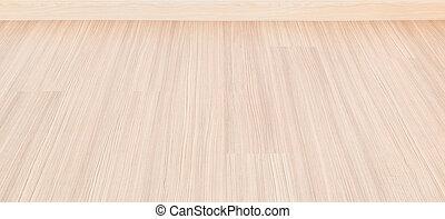 salle, plancher, mur, laminate, bois, fond, vide