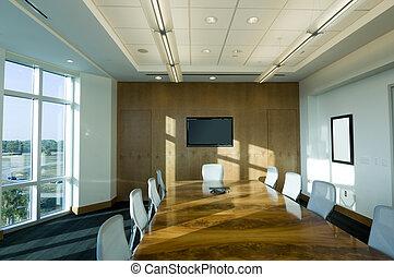 salle réunion, à, bâtiment bureau