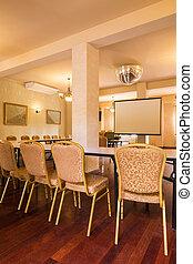 salle réunion, élégant, bâtiment, bureau