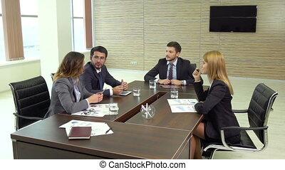 salle réunion, discussion