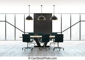 salle réunion, intérieur, moderne