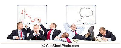 salle réunion, sur, a, lent, jour