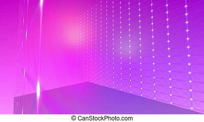 salle, render, étape, 3d, lumière