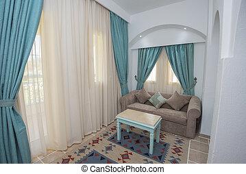 salle, secteur, hôtel, salon, recours, luxe