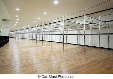 salle, secteurs, canaux transmission, long, métallique, ...