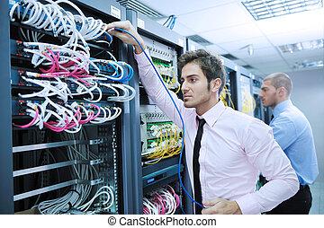 salle, serveur, enineers, réseau, il