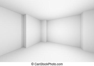 salle, simple, résumé, illustration, blanc, vide