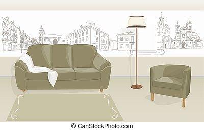 salle, sofa