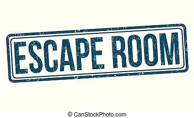 salle, timbre, grunge, évasion, caoutchouc