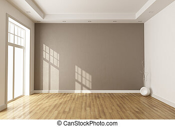 salle vide, brun