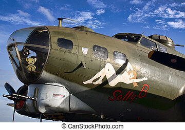 Sally B Flying Fortress Boeing B17G at Imperial War Museum Duxford
