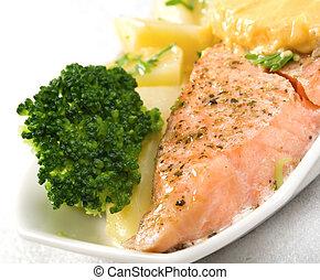 salmón, estaca