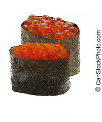 fish roe - salmon and flying fish roe