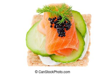 Salmon canape