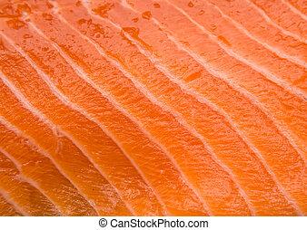 Salmon fillet closeup texture